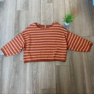 Free People Bardot Sweater Cedar Flower Combo Sz L